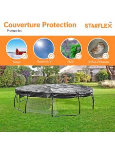Couverture de protection universelle pour trampoline Ø 370 cm