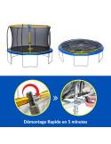 Trampoline Jump Power - Diamètre 366 cm