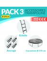 PACK 3 ACCESSOIRES 370 cm: Echelle, Ancrage, Bâche 370 cm