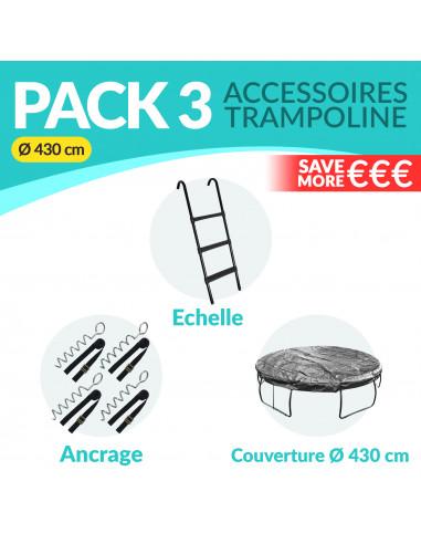 PACK 3 ACCESSOIRES 430 cm: Echelle, Ancrage, Bâche 430 cm - 1