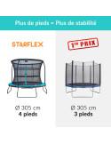 Trampoline Starflex Pro avec echelle - Diamètre 305 cm